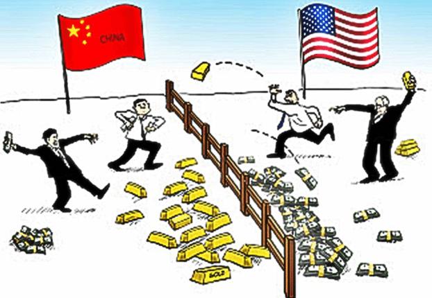 ВВП Китая против ВВП США
