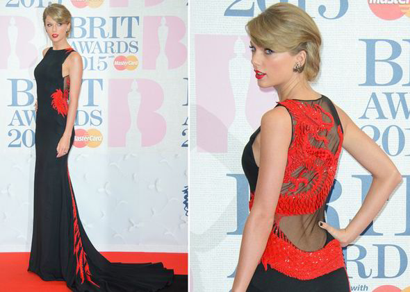 BRIT Awards 2015 Тейлор Свифт