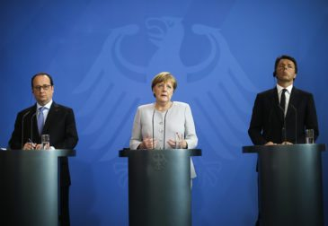 Лидеры Италии, Германии и Франции о будущем Евросоюза
