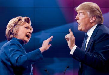 Результаты вторых дебатов между Дональдом Трампом и Хилари Клинтон.