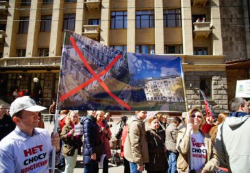 Мой дом — моя крепость: москвичи митингуют против сноса пятиэтажек
