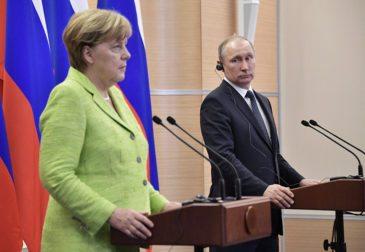 Путин и Меркель обсудили борьбу с терроризмом, Ближний Восток и минские договоренности