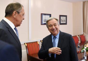 Сергей Лавров провел переговоры с генсеком ООН
