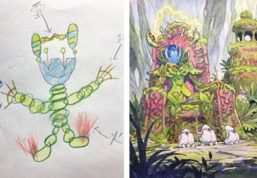 Томас Ромейн превращает рисунки сыновей в профессиональные иллюстрации