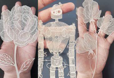 Поражающие воображение фигуры, вырезанные из бумаги