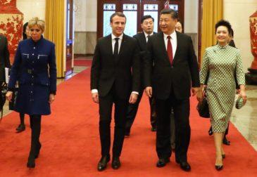 Макрон призвал Европу противостоять США и Китаю