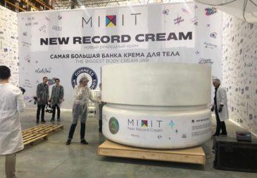 Самая большая в мире баночка крема для тела Mixit попала в книгу Гиннеса