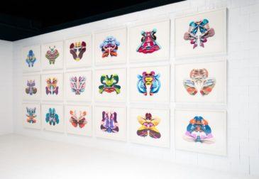 Разноцветные пятна Роршаха — рисунки цветным карандашом