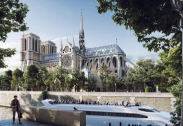 Бельгийская студия дизайна предлагает разбить сад на крыше Нотр-Дама