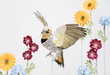 Бумажные скульптуры, в точности воссоздающие экзотических птиц