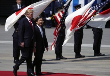 Дональд Трамп встретился с новым императором Японии