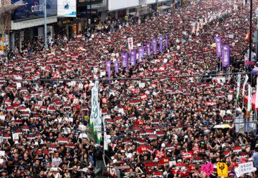 11-я акция протеста прошла в Гонконге, несмотря на запрет полиции