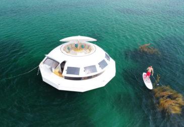 Плавающий дом из фильма про Джеймса Бонда