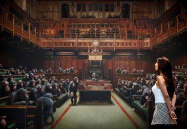 Картина Бэнкси с шимпанзе в парламенте продается за рекордные 12 миллионов долларов США