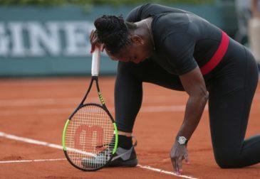 Серена Уильямс отказалась от участия в Открытом чемпионате Франции по теннису из-за серьезной травмы