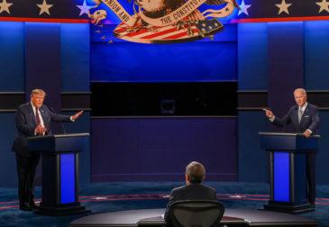 Жаркие дебаты Трампа и Байдена